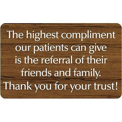 Medical Arts Press® Standard Message Screen-Printed Office Signs; Referral Thank You