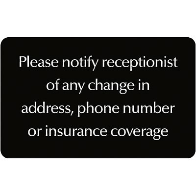 Medical Arts Press® Standard Message Screen-Printed Office Signs; Please Notify