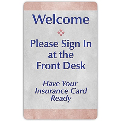 Medical Arts Press® Private Message Signs; Insurance Card ...