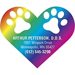 Medical Arts Press® Veterinary Die-Cut Magnets; 3x2-1/4, Heart Paw Prints
