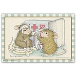 House Mouse Designs® Standard 4x6 Postcards; First Aid Mouse