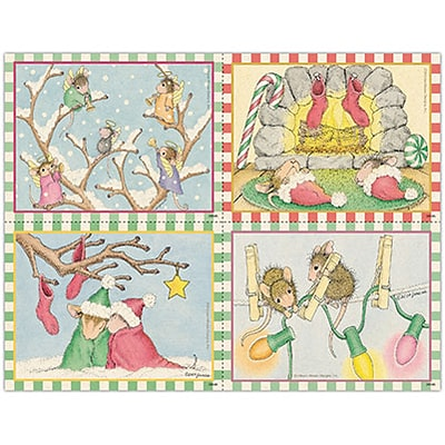 House-Mouse Designs® Laser Postcards; Assorted, Holiday Mice