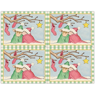 House-Mouse Designs® Laser Postcards; Snowy Mice