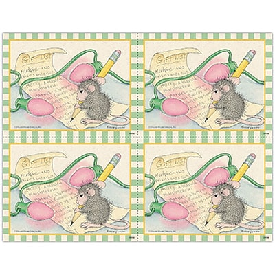House-Mouse Designs® Laser Postcards; Gift List