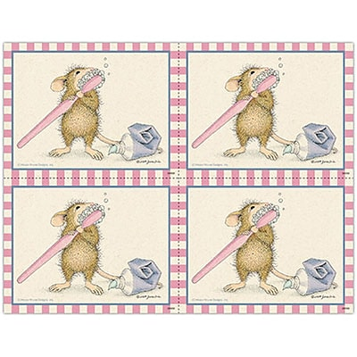 House-Mouse Designs® Laser Postcards; Mouse Toothbrush