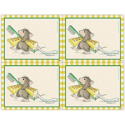 House-Mouse Designs® Laser Postcards; Toothpaste Trail