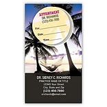 Medical Arts Press® Dual-Imprint Peel-Off Sticker Appointment Cards; Palm Trees