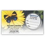 Medical Arts Press® Dual-Imprint Peel-Off Sticker Appointment Cards; Butterfly Flower