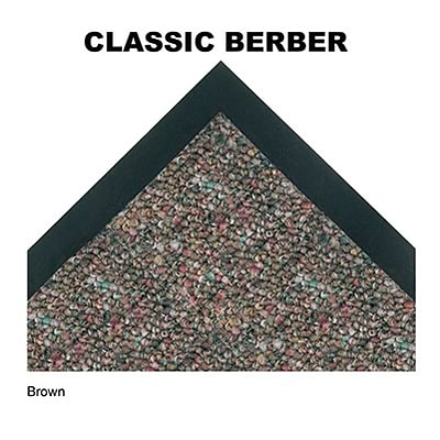 Crown® Classic-Berber™ Wiper Entrance Mat; 3x5, Olefin, Brown