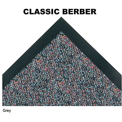 Crown® Classic-Berber™ Wiper Entrance Mat; 3x5, Olefin, Grey