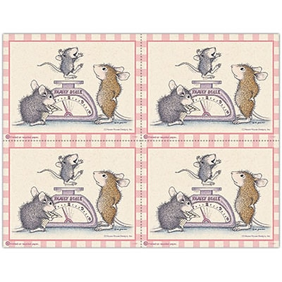 House-Mouse Designs® Laser Postcards; Scale