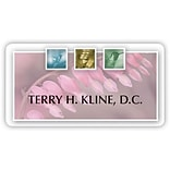 Custom Printed Medical Arts Press® Full-Color Generic Name Badges; Standard, Botanical