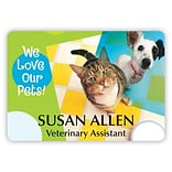 Custom Printed Medical Arts Press®  Full-Color Veterinary Name Badges; Large, Patchwork