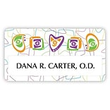 Custom Printed Medical Arts Press® Full-Color Eye Care Name Badges; Standard, Eye