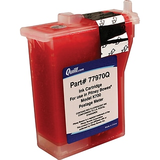 Quill Ink Ctdgs. for Pitney Bowes K700, K7M0; Red