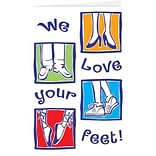 Medical Arts Press® Podiatry Greeting Cards; Love Your Feet,  Blank Inside