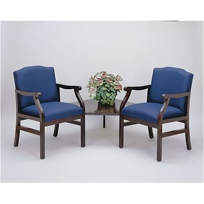 Lesro Madison Reception Room Furniture Collection in Standard Fabric; 2 Chairs with Corner Table