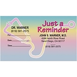 Full Color Sticker Appointment Card;Stethoscope