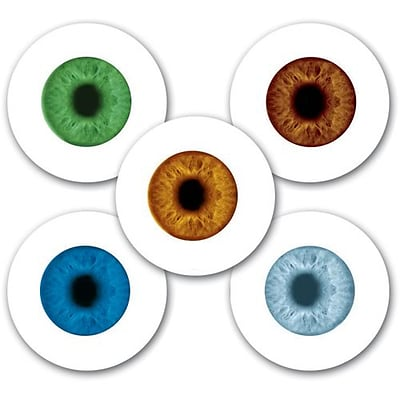 Smilemakers® Glow in the Dark Eyes Assorted Stickers