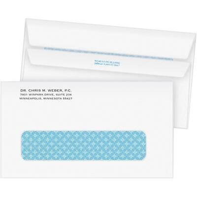 #6-3/4 1-Color Confidential Envelopes w/Window