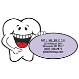 Medical Arts Press® Dental Die-Cut Magnets; 3-1/2x2, Smiling Tooth, Purple