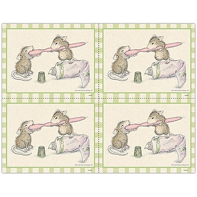House-Mouse Designs® Laser Postcards; Brush, Brush, Brush