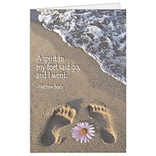 Medical Arts Press® Podiatry Greeting Cards; Footprints,  Blank Inside