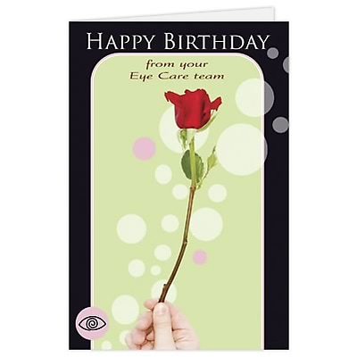 Medical Arts PressR Eye Care Birthday Cards Flower Blank Inside