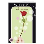 Medical Arts Press® Eye Care Welcome Cards; Flower, Blank Inside