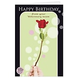 Medical Arts Press® Veterinary Birthday Card; Flower, Blank Inside