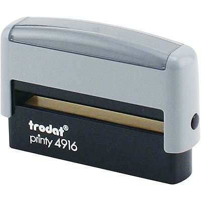 Self-inking Custom Message Stamp; 3/8x2-3/4, Up to 2 Lines
