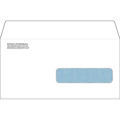 2000 ADA Dental Right Window Claim Envelopes; Self-Seal, Personalized, 500/Box