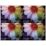 Medical Arts Press® Laser Postcards; Gentle Reminder, Multi Color Flower