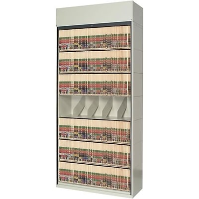 Medical Arts Press® 4-Post Tambour Door Cabinet; 7- Tier Single Add- On