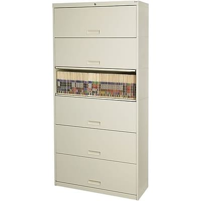 Stak N Lok®100 Series 6 Drawer Lateral File Cabinet, Letter