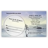 Medical Arts Press® Dual-Imprint Peel-Off Sticker Appointment Cards; Run