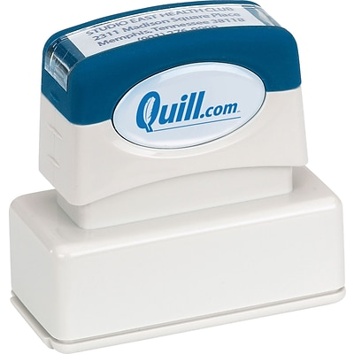 Quill Brand® Pre-Inked Large Address Stamp; 11/16x1-15/16, Up to 5 Lines