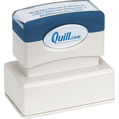 Quill Brand® Pre-Inked Endorsement Stamp; 1x2, Up to 7 Lines