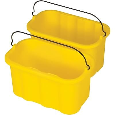 Rubbermaid® Cleaning Cart Sanitizing Caddy, 10 Quart, 14x7-1/2x8, Yellow