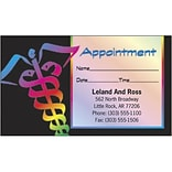 Full Color Appointment Cards; Caduceus