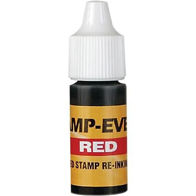 Re-inking Fluid for Stamp-Ever Pre-inked Stamps; Red
