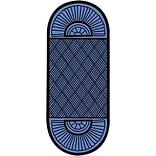 Crown Double Fan Entry Mat 45x164 Blue
