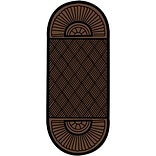 Crown Double Fan Entry Mat 34x97 Brown