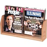 Wooden Mallet Solid Wood/Acrylic Literature Racks; 2-Pocket Magazine