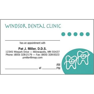 medical arts press color choice dental appointment cards teeth - Dental Appointment Cards