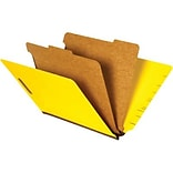 Quill 2-Partition Yellow End-Tab Folders