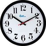 Quill 14 Brown Plastic Atomic Wall Clocks