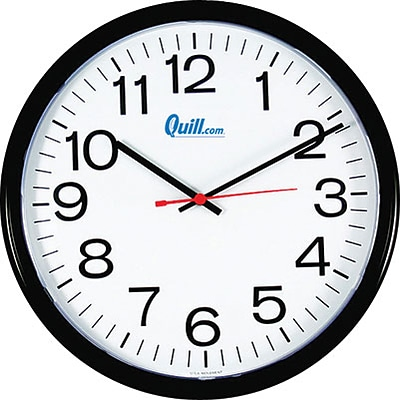 Quill Brand® Wall Clocks; Battery