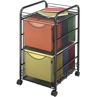 Safco® Onyx™ Mesh File Cart; 2 File Drawers