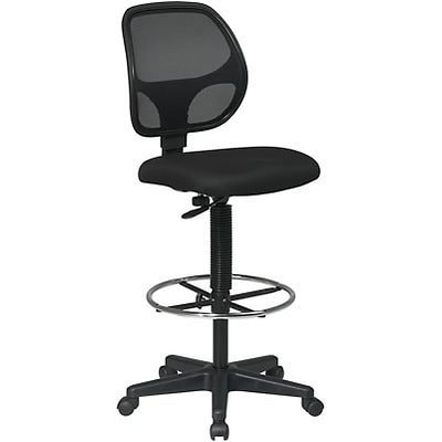 Office Star® Screen Back Drafting Chair; Black